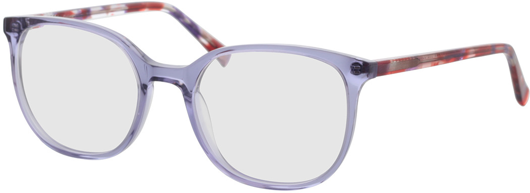 Picture of glasses model Colima-lila-transparent in angle 330