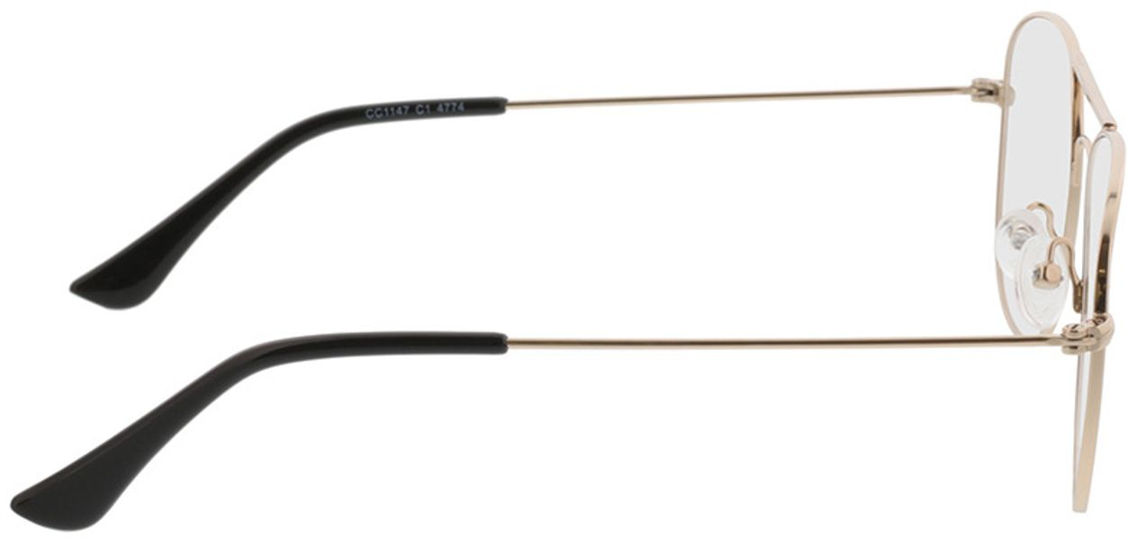 Picture of glasses model Quincy-gold in angle 90