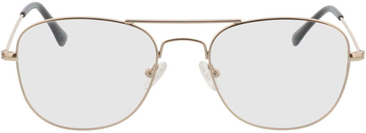 Picture of glasses model Quincy-gold in angle 0