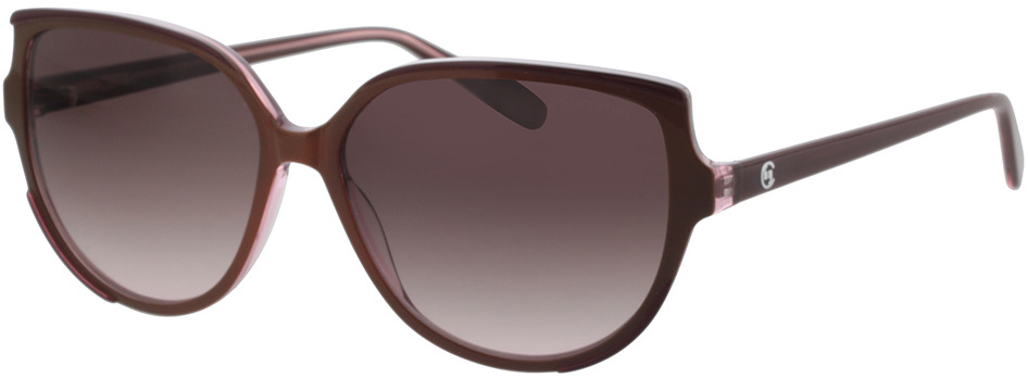 Picture of glasses model Comma, 77124 76 rotbraun 56-14 in angle 330