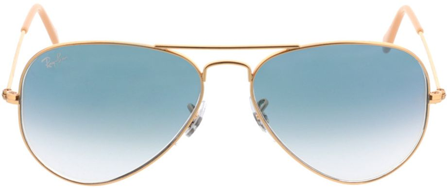 Picture of glasses model Ray-Ban Aviator RB3025 001/3F 55-14 in angle 0