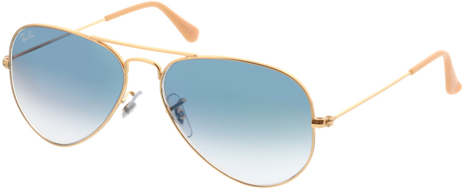 Picture of glasses model Ray-Ban Aviator Large Metal RB 3025 001/3F 55-14