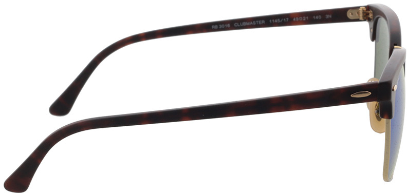 Picture of glasses model Ray-Ban Clubmaster RB 3016 114517 49-21 in angle 90