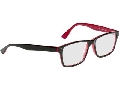 Brille München-schwarz/rot