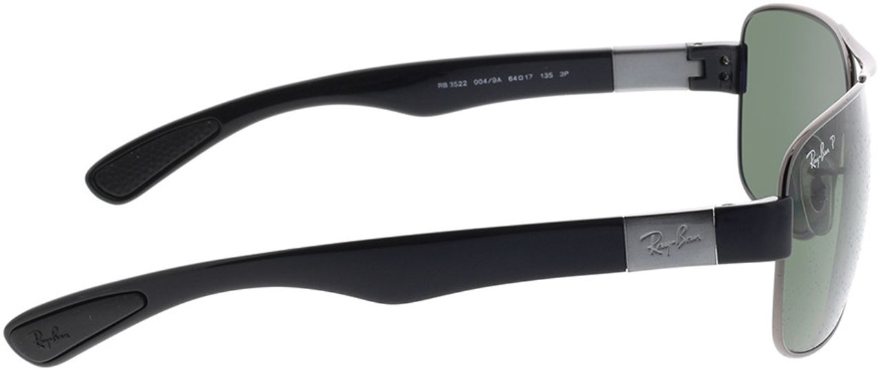 Picture of glasses model Ray-Ban RB3522 004/9A 64-17 in angle 90