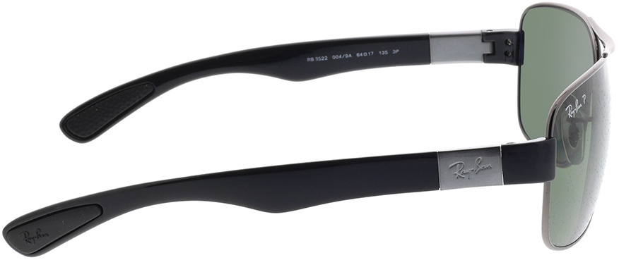 Picture of glasses model Ray-Ban RB 3522 004/9A 64-17 in angle 90