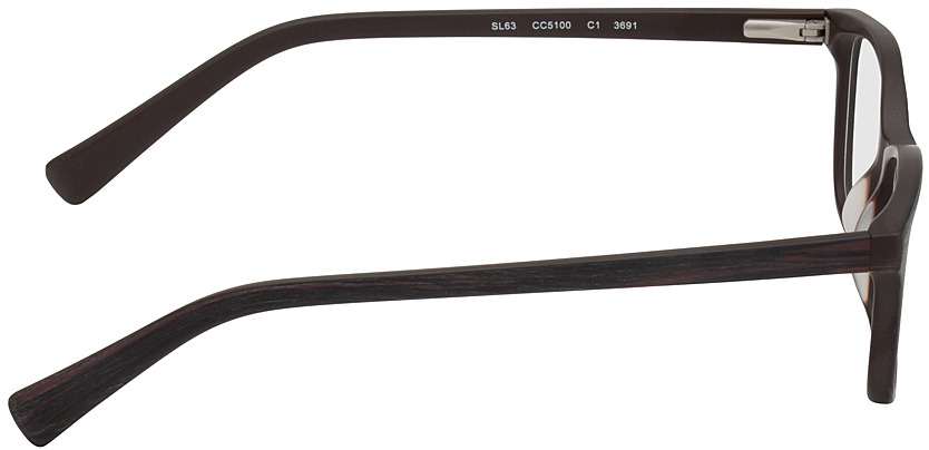 Picture of glasses model Brüssel black/red in angle 90
