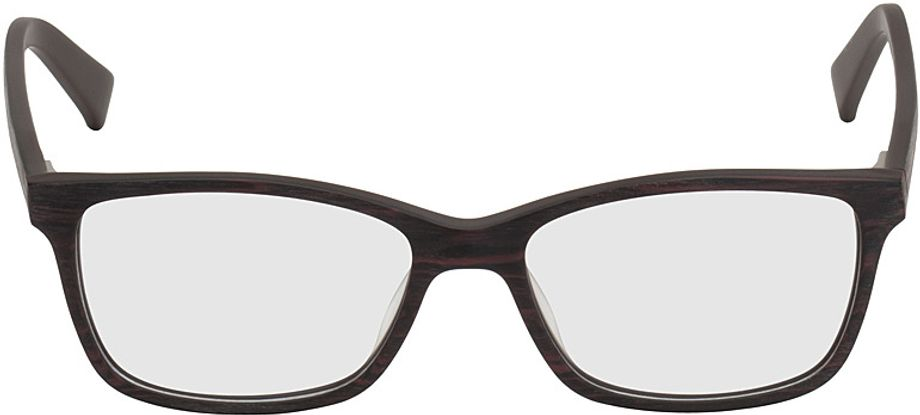 Picture of glasses model Brüssel-black-woodenoptic-red in angle 0