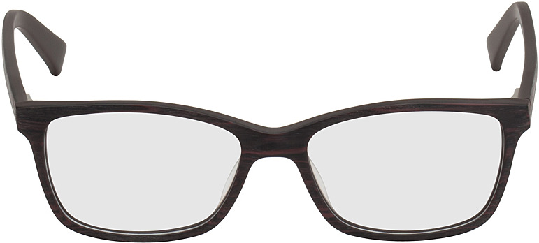 Picture of glasses model Brüssel black/red in angle 0