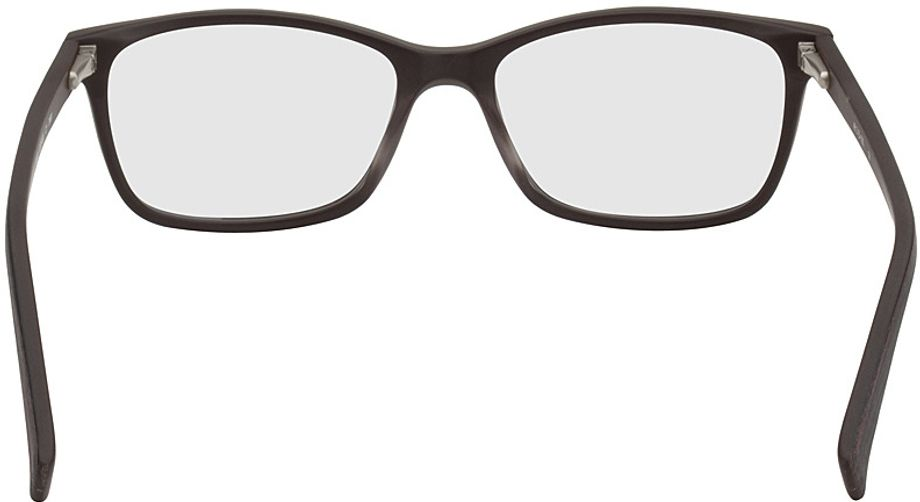 Picture of glasses model Brüssel-black-woodenoptic-red in angle 180