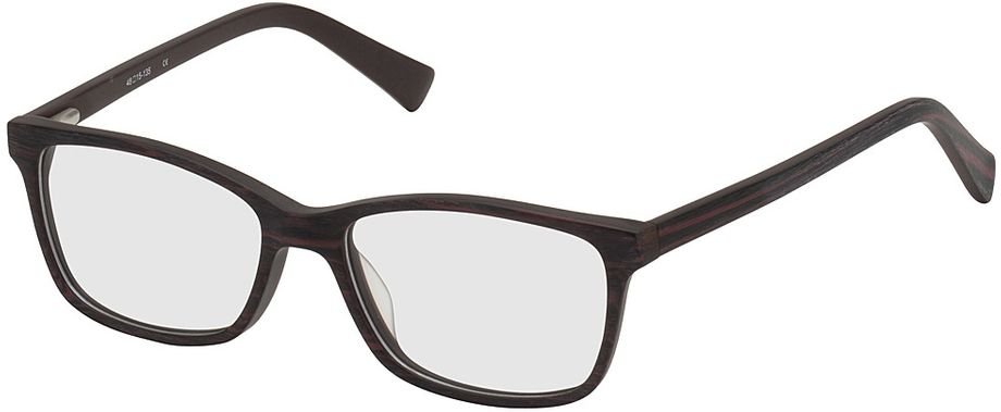 Picture of glasses model Brüssel-black-woodenoptic-red in angle 330