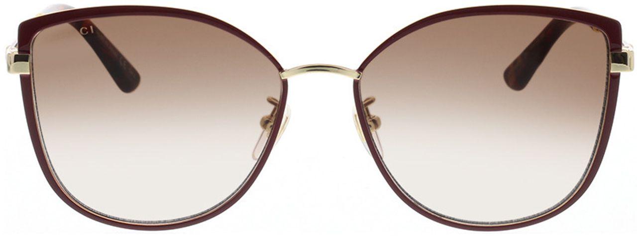 Picture of glasses model Gucci GG0589SK-004 57-16 in angle 0