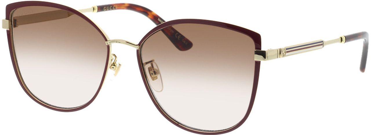 Picture of glasses model Gucci GG0589SK-004 57-16 in angle 330