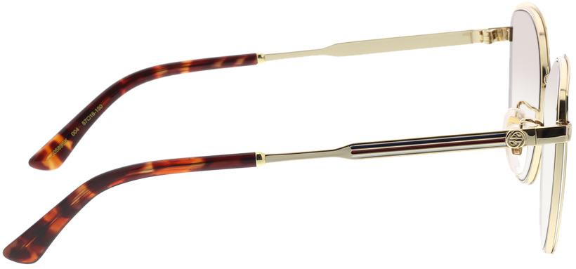 Picture of glasses model Gucci GG0589SK-004 57-16 in angle 90