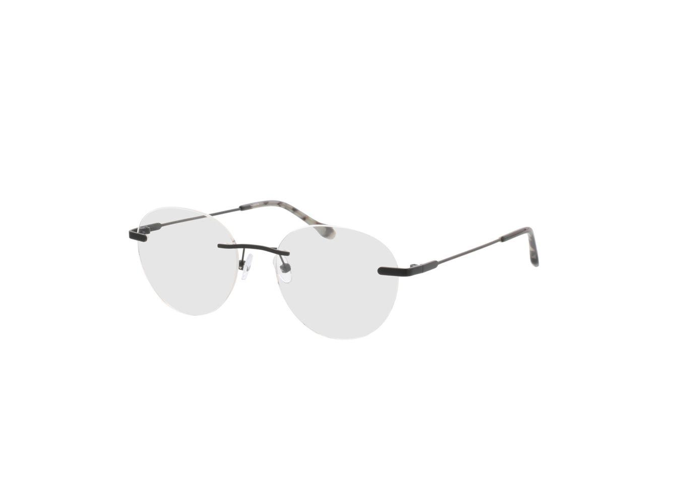 4250325292727-singlevision-0000 Vida-matt schwarz Gleitsichtbrille, Randlos, Rund OMNIO by Brille24
