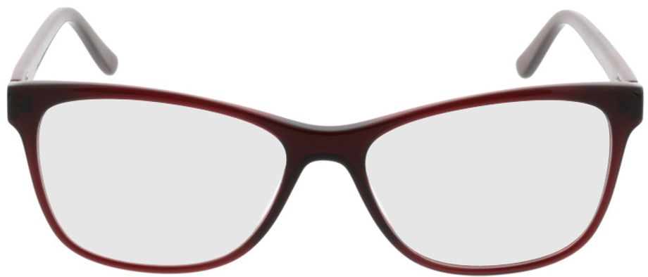 Picture of glasses model Comma70016 66 dunkelrot 52-15 in angle 0
