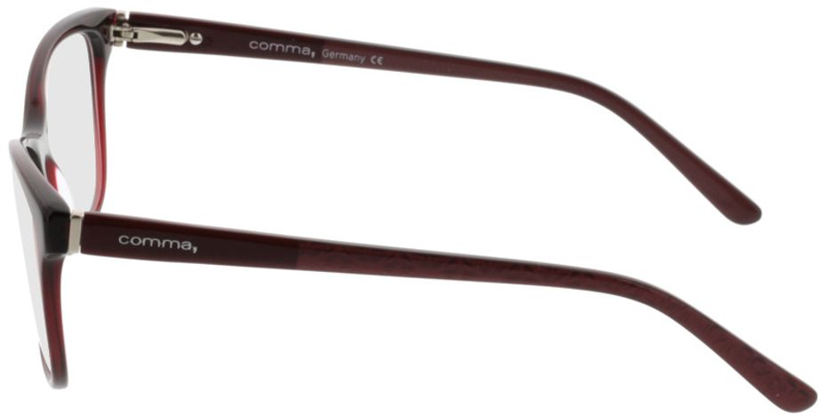 Picture of glasses model Comma70016 66 dunkelrot 52-15 in angle 270