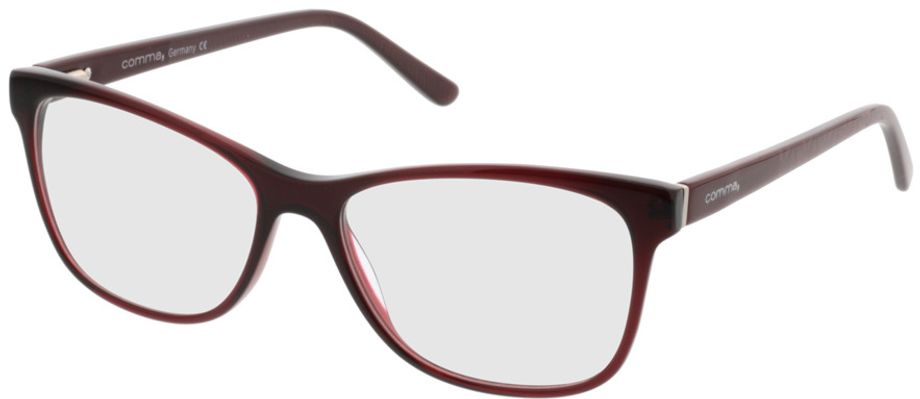 Picture of glasses model Comma70016 66 dunkelrot 52-15 in angle 330