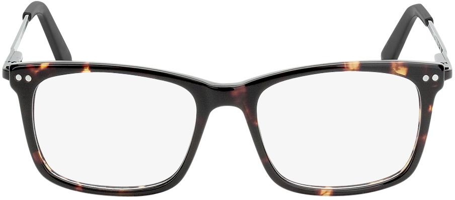 Picture of glasses model Montana donker bruin-gevlekt/zwart in angle 0