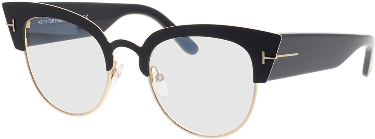 Picture of glasses model Tom Ford FT0607 005 in angle 330