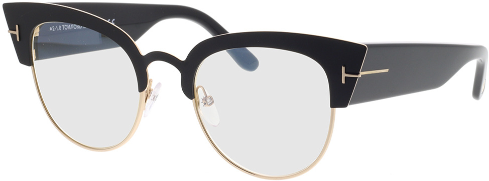 Picture of glasses model Tom Ford FT0607 005 51-21 in angle 330