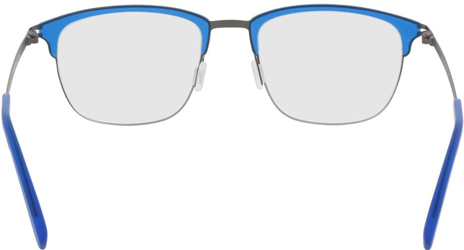 Picture of glasses model Milos-blue-gun in angle 180