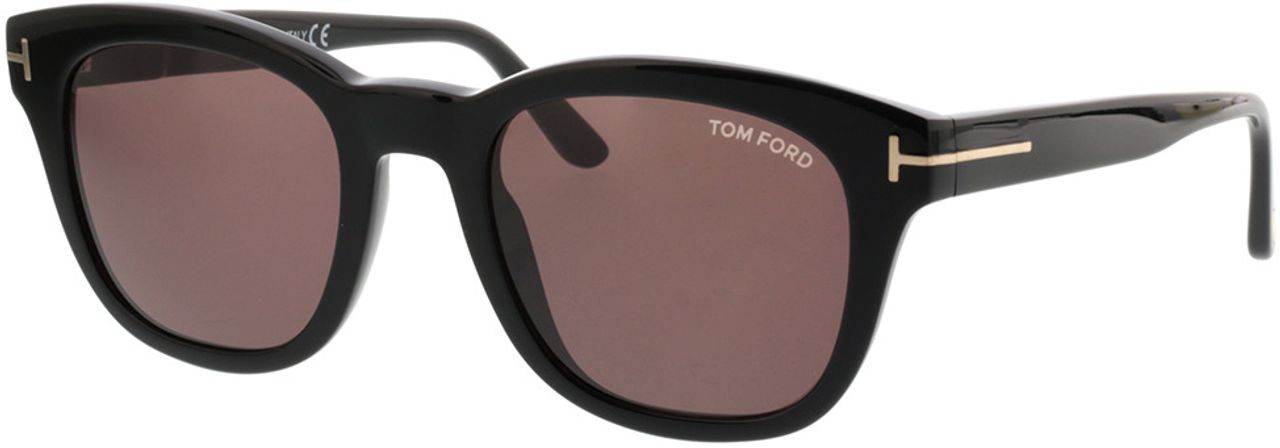 Picture of glasses model Tom Ford FT0676 01E in angle 330