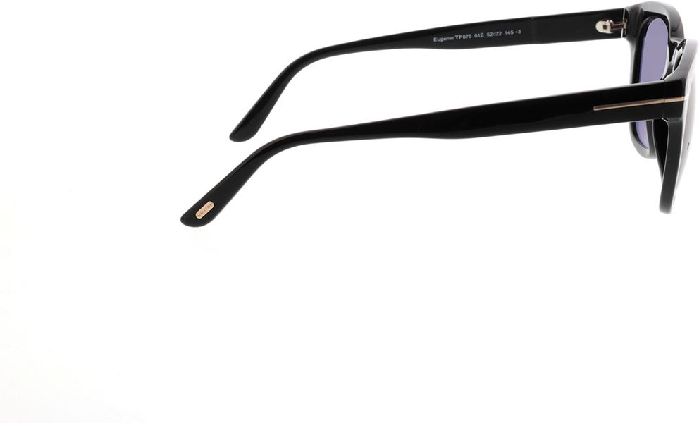 Picture of glasses model Tom Ford FT0676 01E in angle 90