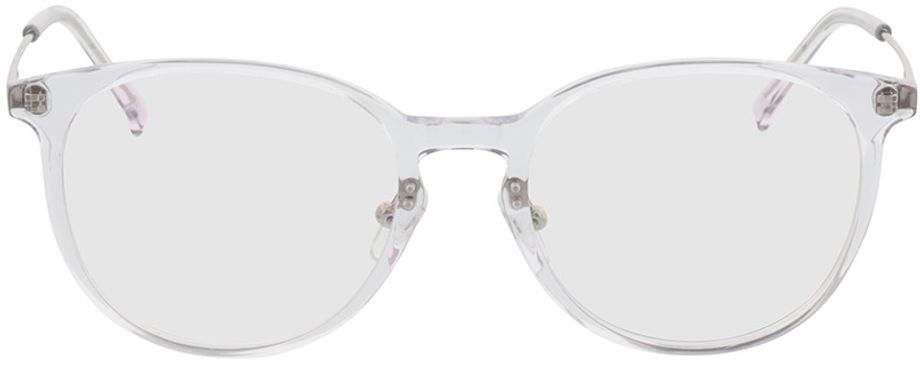 Picture of glasses model Kelibia-transparent-silver in angle 0