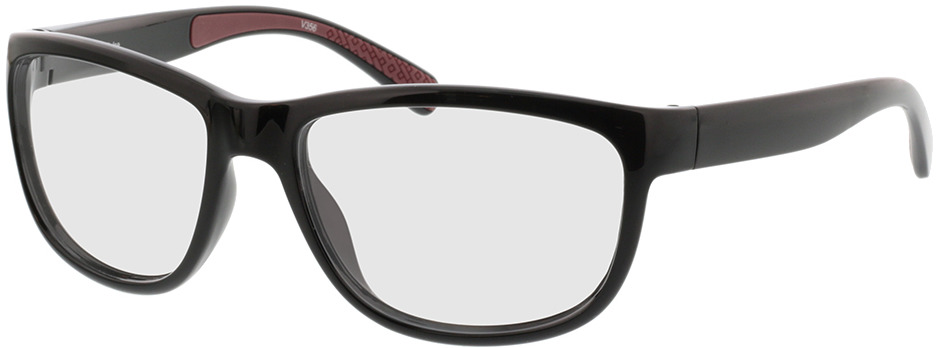 Picture of glasses model Pulse-schwarz/rot in angle 330