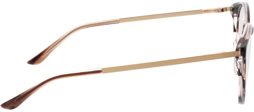 Picture of glasses model Hazel-horn braun in angle 90