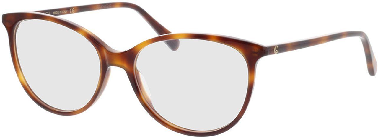 Picture of glasses model Gucci GG0550O-006 53-16 in angle 330