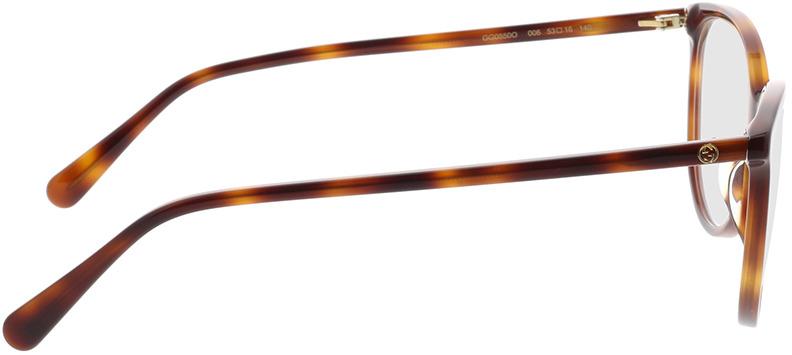 Picture of glasses model Gucci GG0550O-006 53-16 in angle 90