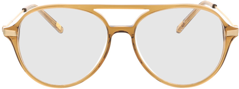 Picture of glasses model Divo-braun transparent in angle 0