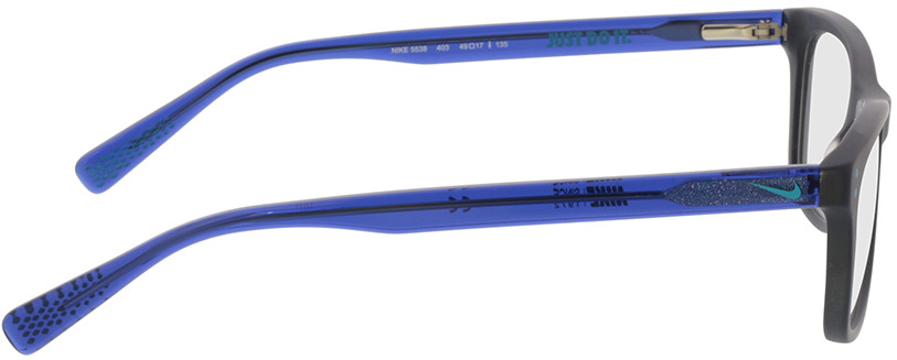 Picture of glasses model Nike 5538 403 49-17 in angle 90