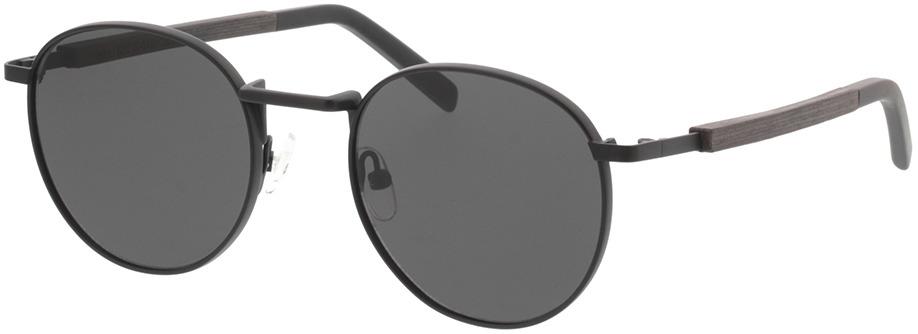 Picture of glasses model TAKE A SHOT John: Schwarzes Eichenholz 50-20 in angle 330