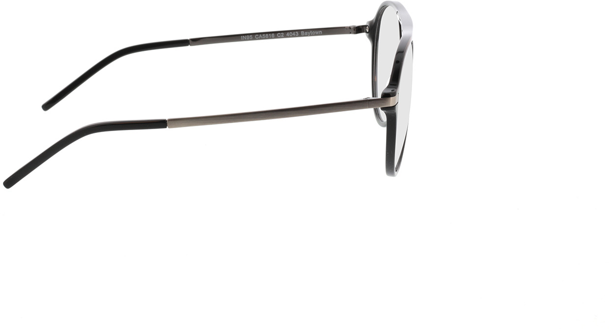 Picture of glasses model Baytown zwart/pulver in angle 90