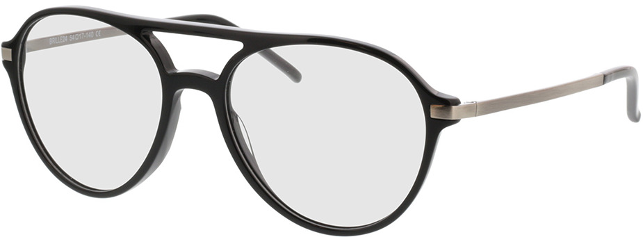 Picture of glasses model Baytown zwart/pulver in angle 330