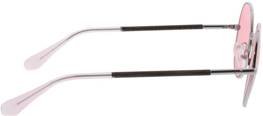 Picture of glasses model Wood Fellas Sunglasses Thannstein black oak/silver 52-20 in angle 90