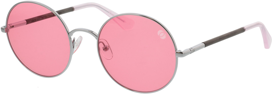Picture of glasses model Wood Fellas Sunglasses Thannstein black oak/silver 52-20 in angle 330