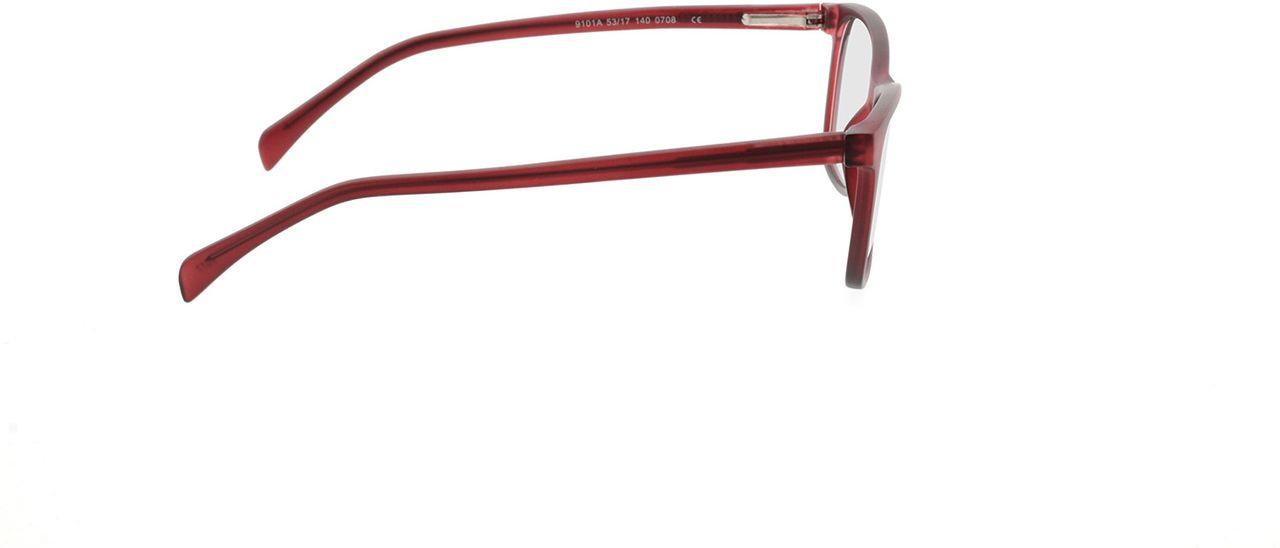 Picture of glasses model Adelina-matt rot in angle 90
