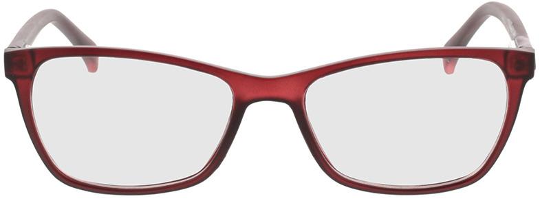 Picture of glasses model Adelina-matt rot in angle 0