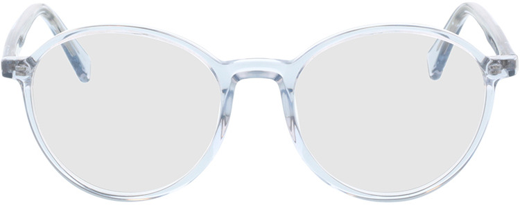 Picture of glasses model Olbia-hellblau-transparent in angle 0