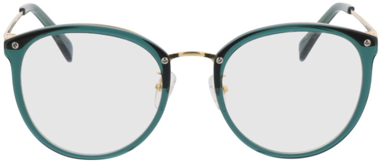 Picture of glasses model Charlotte-grün/gold in angle 0