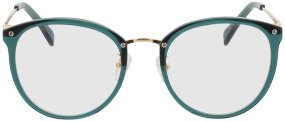 Picture of glasses model Charlotte-green-gold in angle 0