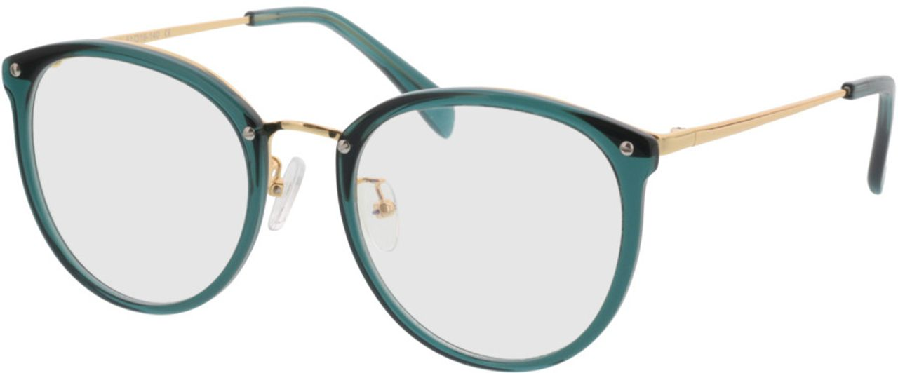 Picture of glasses model Charlotte-green-gold in angle 330