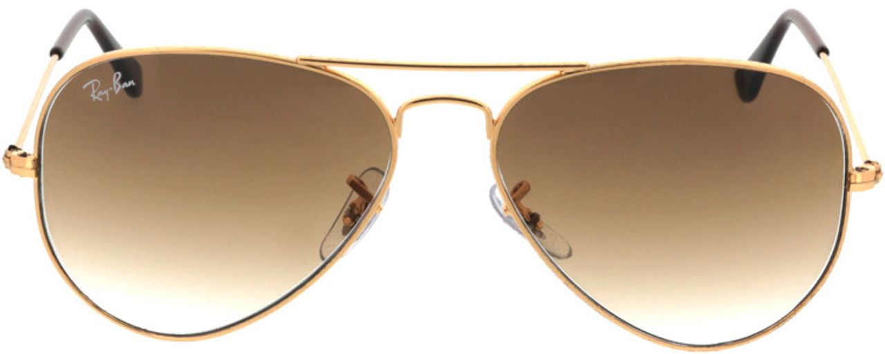 Picture of glasses model Ray-Ban Aviator RB3025 001/51 55-14 in angle 0