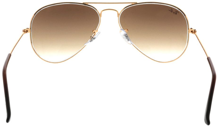 Picture of glasses model Ray-Ban Aviator RB3025 001/51 55-14 in angle 180