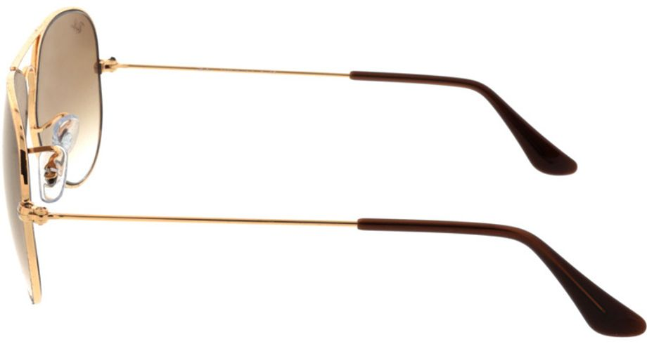 Picture of glasses model Ray-Ban Aviator RB3025 001/51 55-14 in angle 270