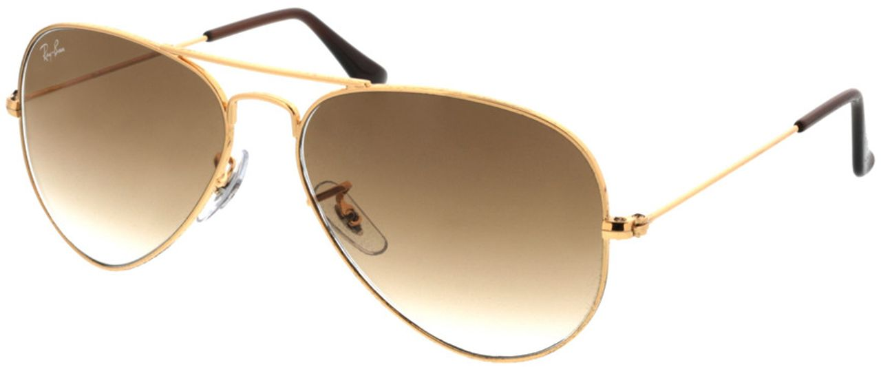 Picture of glasses model Ray-Ban Aviator RB3025 001/51 55-14 in angle 330